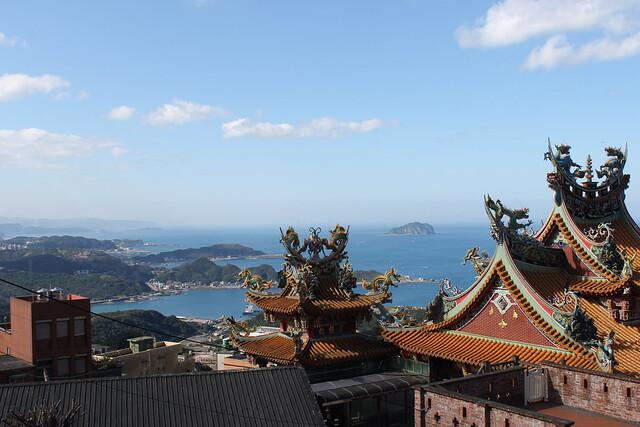 Temple and sea.