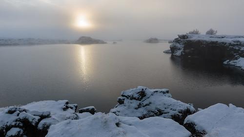 iceland northeast myvatn lakemyvatn ijsland
