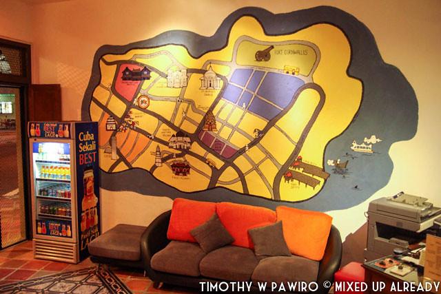 Malaysia - Penang - Hostel - Syok - The reception area
