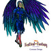 A Sneak Peek at Disney Festival of Fantasy Parade Costumes: Raven Design Sketch by thrillgeek