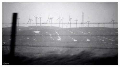 wind turbines by Wanderfull1
