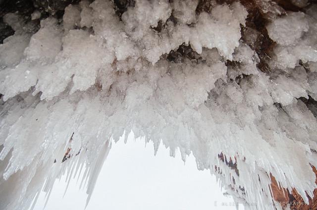 Las sorprendentes cuevas de hielo Bayfield en Wisconsin