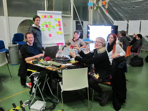 Team³ late Sunday night hacking
