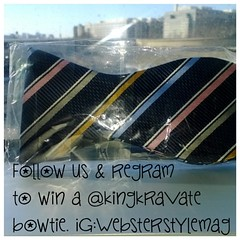 Don't forget to follow and regram us on IG to win a @kingkravate bowtie. Contest ends tomorrow.