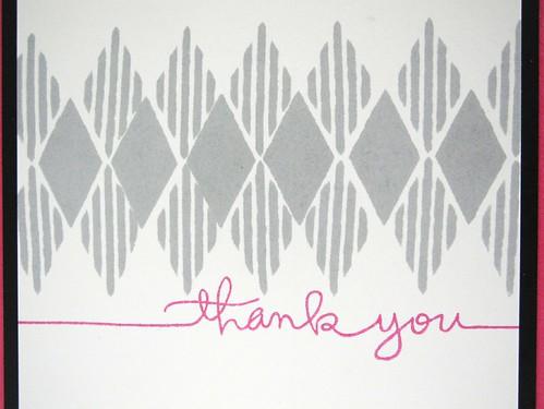 Diamond Thank You (detail)
