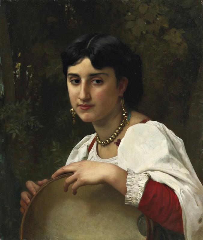 William Bouguereau - L'italienne au tambourin