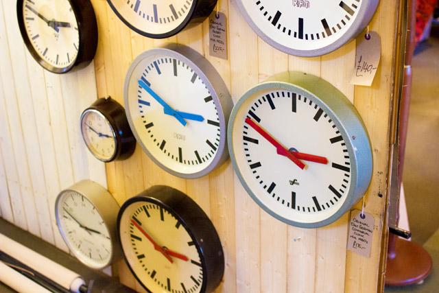 lots of different clocks