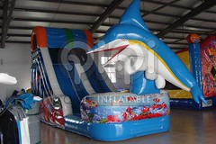 Dolphin jumping inflatable water slide-03