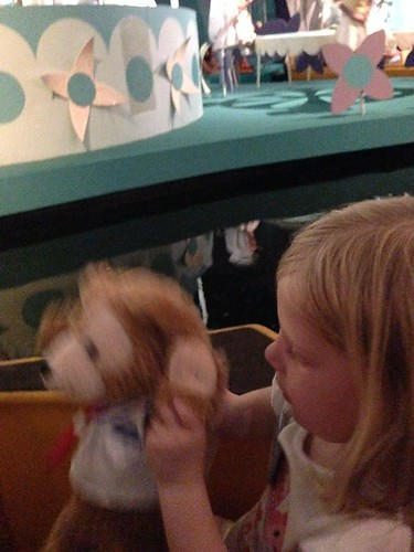 Duffy dances on It's a Small World
