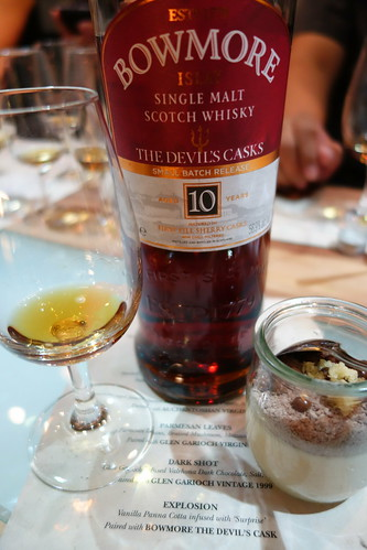 "Bowmore  The Devil's Casks Small Batch Release - 10 years paired with ""Explosion"""