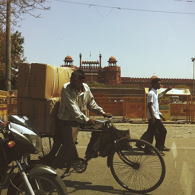 Red fort drive by #India #delhi #vscocam