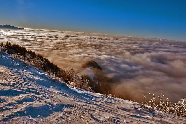 Swiss winter paradise, Paradis hivérnale suisse ,  Les Rochers de Nays . Canton of Vaud. No. 6432.