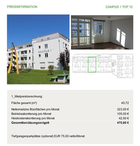 Freie Wohnung für Unternehmen im Techno-Z Salzburg (c) Techno-Z