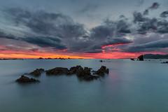 Sunrise at Trengandin beach in Noja, Cantabria