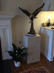 Golden Travertine Laminate Pedestal