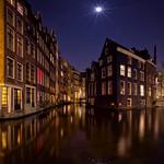 Moonlit Night In Amsterdam