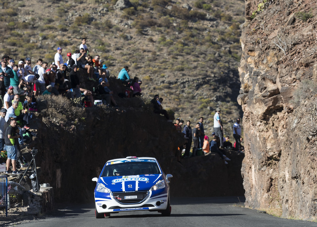 41 POLONSKI Dariusz (POL), GRYCZYNSKA Balbina (POL), Peugeot 208 VTI R2, Action during the 2017 European Rally Championship ERC Rally Islas Canarias, El Corte Inglés,  from May 4 to 6, at Las Palmas, Spain - Photo Gregory Lenormand / DPPI