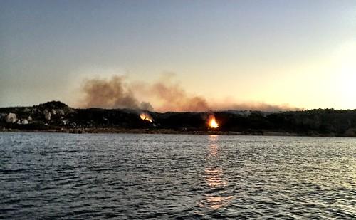 Bushfire. (Controlled burn.) Cape Sorrell, Tasmania.