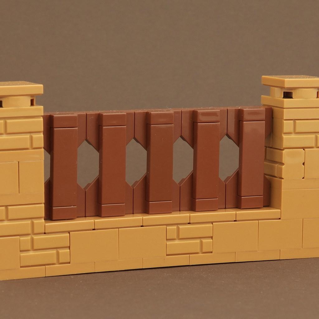 MinecraftMould – Fence (custom built Lego model)