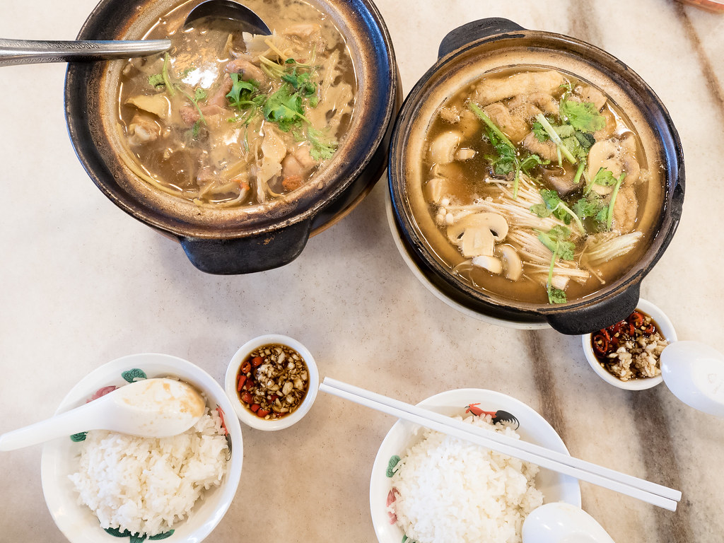 Bak Kut Teh and Chinese wine chicken dinner at Kheong Kee Bak Kut Teh 強記肉骨茶 at Pandan Indah