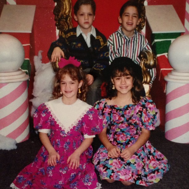 One of my favorite outfits from my childhood. #tbt #siblings #throwbackthursday #family #90s #1990s #floral