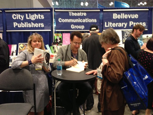 Tony Kushner signing books, BEA 2013