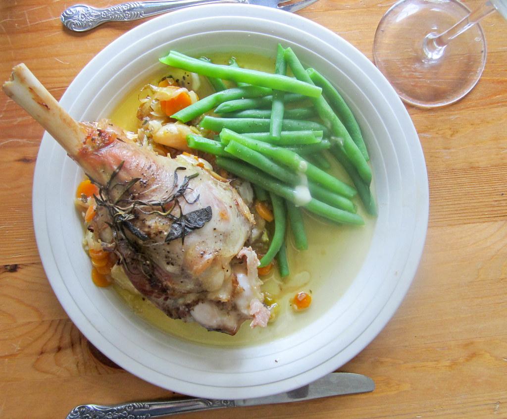 Wine and Garlic Braised Lamb Shanks