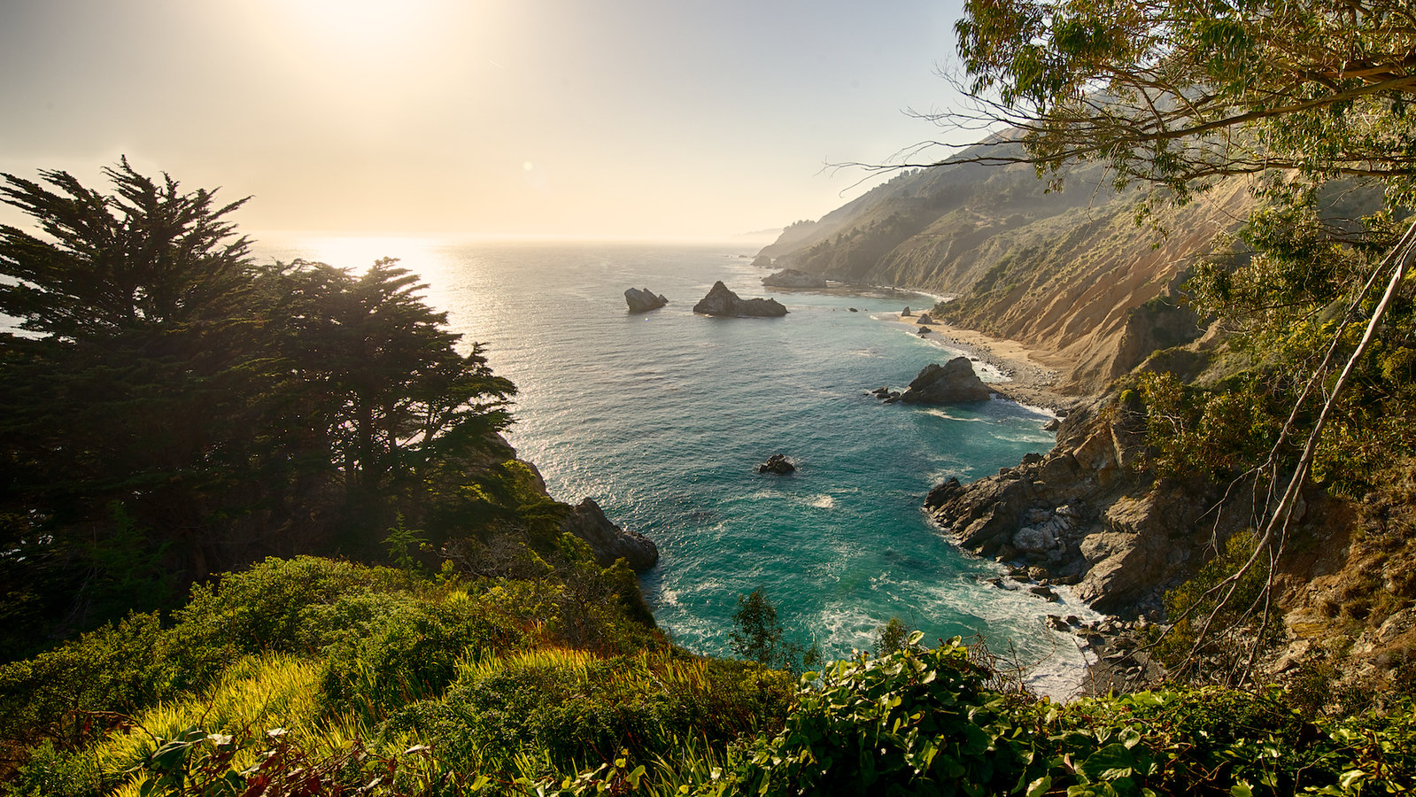 View from Highway One in Big Sur, California