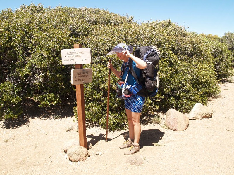 PCT - Fobes Saddle Trail Junction Sign - 4E04