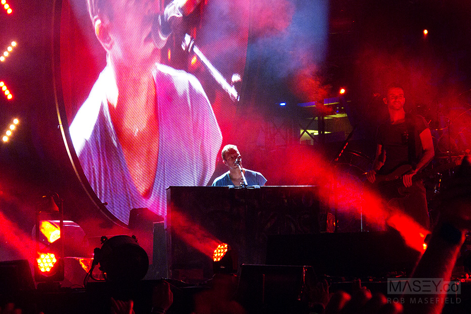 Chris Martin slows things down on the keys.