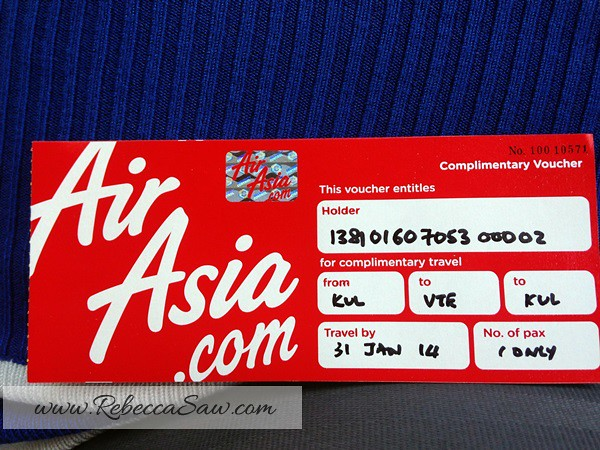 aireen omar rebecca saw blog Air asia 1