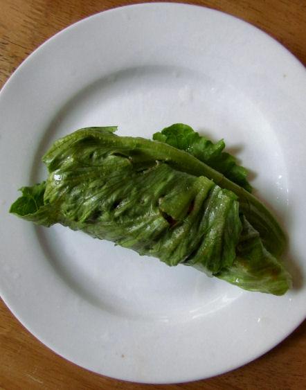 Sardine Salad in a Lettuce Wrap