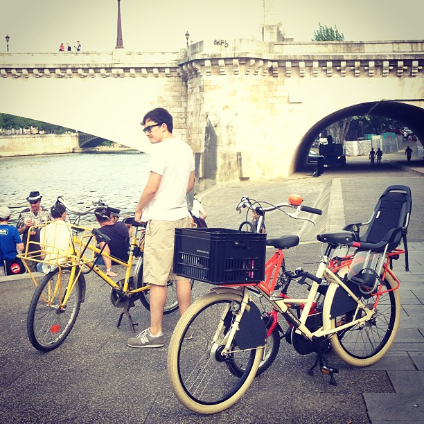 Our wheels. #bike #familybike  #paris