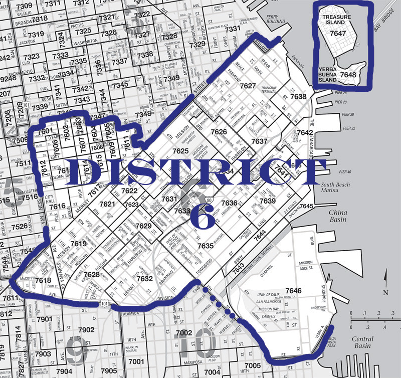 San Francisco Supervisorial District 6 Map (2012)