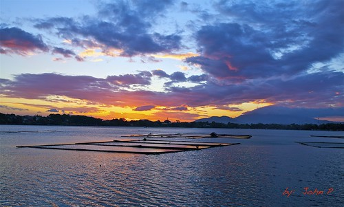 sunset sky nature clouds philippines lakes laguna fishpen sampaloclake calabarzon calabarzonregion