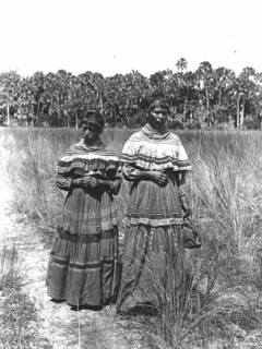 Fanny Stuart and Susie Tiger, Indian Prairie near Lake Okeechobee, Florida