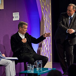 William McIlvanney was joined on stage by Alex Salmond |