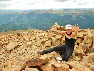 Erin Celebrates Her 10th 14'er Summit on Sunshine