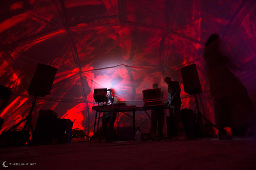 Iscariot at Video Bleep, Burning Man 2013
