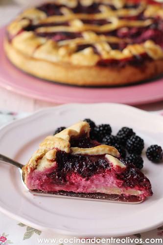 Tarta de moras y queso www.cocinandoentreolivos (5)