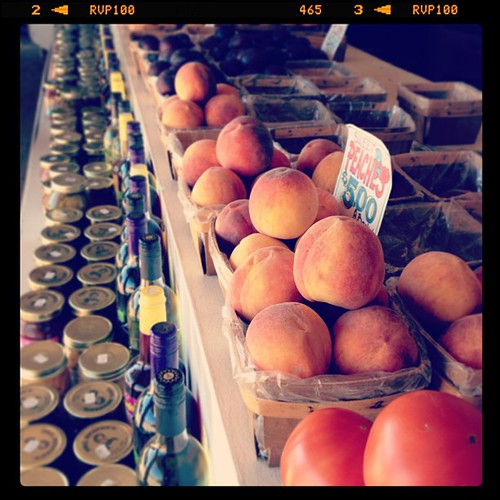 #septfoodphotos 23 | #quicksnack #playingcatchup - when you see a roadside stand in rural Texas selling peaches you stop. Always.