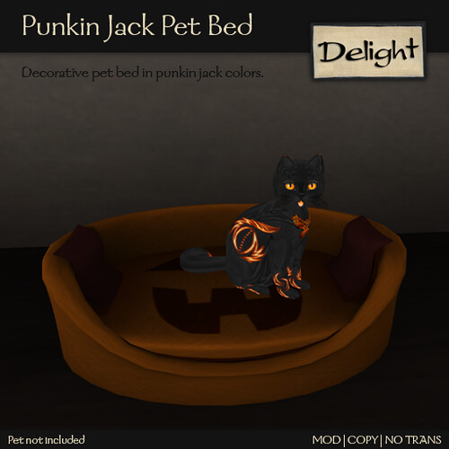Punkin Jack Pet Bed @ ScratchN Post CreatioNs Hunt
