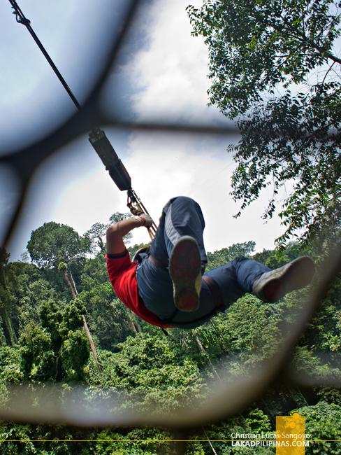 Zipline at Iligan's NPC Nature's Park