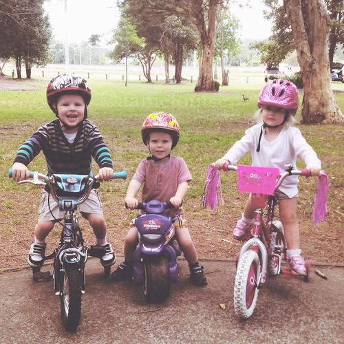 Kids bike track