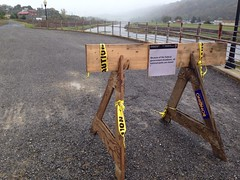 C&O Canal shutdown 'barricade'