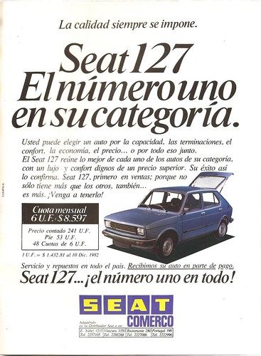 Seat 127 - Mil Autos, Dic. 1982 (Chile)