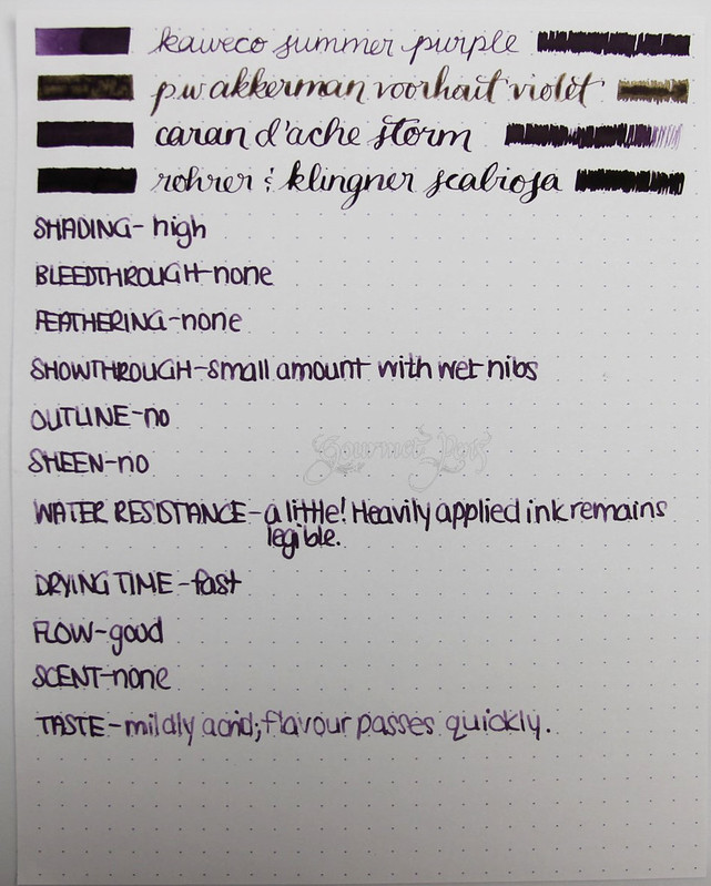 Kaweco Summer Purple/Aubergine Writing Sample