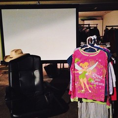 Office chair? Cowboy hat? Projector screen? Tinkerbell jammies? #DogtownLife freebies