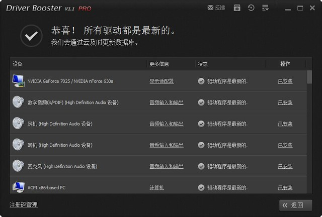 IObit Driver Booster PRO 1.1.0.546 注册码