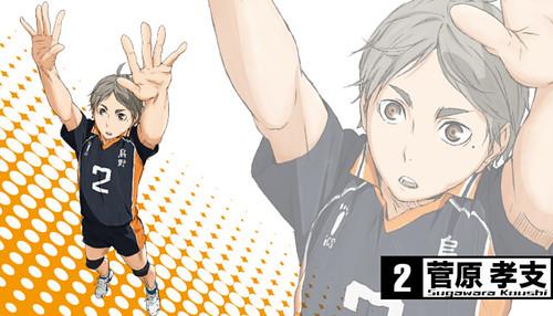131120(2) - 2014年4月新動畫《ハイキュー!!》(排球少年)發表第二批「烏野高校」共3位角色造型&幕後聲優! 2
